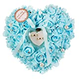 Somnr®  1PCS Wedding Favors Ring Pillow With Transprent Ring Box Heart Design Very Special Unique Ring Pillow Decorations Favor Aqua Blue / Turquoise