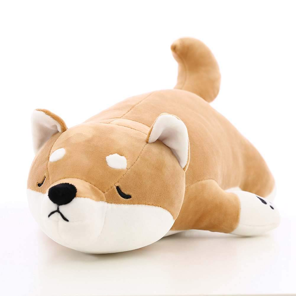 21.6' Dog Plush Doll Stuffed Shiba Inu 3D Animal Zoo Pet Throw Pillow Bed Nursery Decoration Baby Play Toy Puppy Shape Sleeping Pillow Gift Forartt