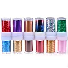 So Beauty 12 Rolls Mix Colors Nail Art Transfer Foil Set Nail Art Tip Decoration