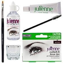 Julienne Eyelash Tinting Kit 4 Piece Dark Brown by Natures Curve by Julienne