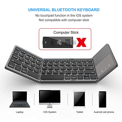 Foldable Bluetooth Keyboard, Jelly Comb Dual Mode Bluetooth & USB Wired Rechargable Portable Mini BT - http://coolthings.us