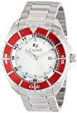Calibre Men's SC-5S2-04-001.4 Sea Knight Round Stainless Steel Red Aluminum Bezel Luminous Date Watch, Watch Central