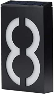 Solar House Numbers, LED Lighted/Illuminated House Number, Metal Address Plaque, Address Numbers for Houses, Address Plaque for Houses, LED Address Sign from JBD Signature (8)
