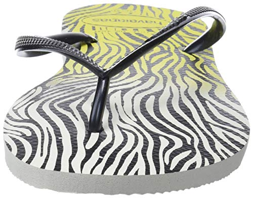 white Havaianas yellow Tongs Slim 0709 Animals Femme Multicolore xUWX6nUqw