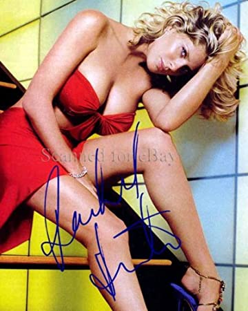Rachel Hunter Wow Signed Upskirt Cleavage Photo