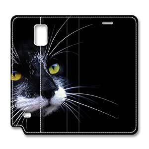 Brain114 Fashion Style Case Design Flip Folio PU Leather Cover Standup Cover Case with Black And White Cat 2 Pattern Skin Samsung Galasy S3 I9300