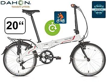 Bicicleta plegable Dahon Vybe D7 20zoll/aluminio/7gang/guardabarros/Frost