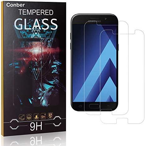 Conber [2 Stück] Displayschutzfolie kompatibel mit Samsung Galaxy A5 2017, Panzerglas Schutzfolie für Samsung Galaxy A5 2017 [9H Härte][Hüllenfreundlich]