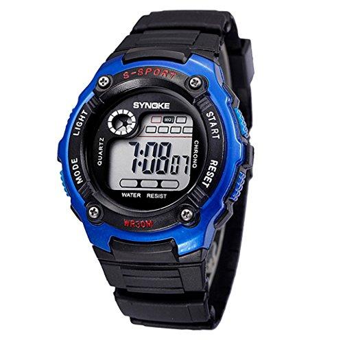Boy Girl Child Kids Student Digital LED Quartz Alarm Sports Waterproof Gift Watch