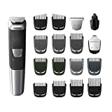 Philips Multigroom Series 5000 Corded/Cordless with 17 Trimming Accessories, DualCut Technology, Lithium-Ion and Storage Bag, MG5750/18