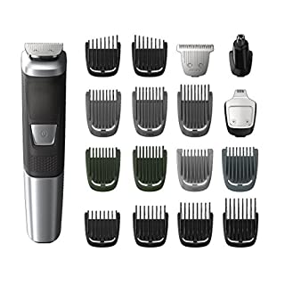 Philips Multigroom Series 5000 Corded/Cordless with 17 Trimming Accessories, DualCut Technology, Lithium-Ion and Storage Bag, MG5750/18 (B073RHH3GH) | Amazon price tracker / tracking, Amazon price history charts, Amazon price watches, Amazon price drop alerts
