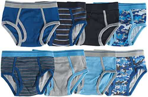 trimfit Boys 100% Cotton Tagless Briefs (Pack of 8)
