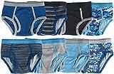 Trimfit Boys 100% Dinosaur Sports Camo Briefs 8-Pack Blue/Grey Multi Color S (4-6)