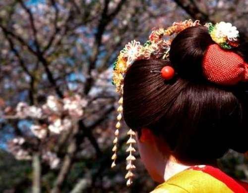 japan-kyoto-geishas-head-on-philosophers-path-by-nancy-steve-ross-19-x-24-giclee-canvas-art-print