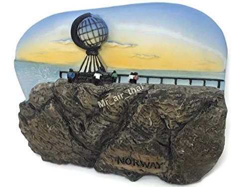 Midnight Sun, North Cape, NORWAY Souvenir Collection 3D Fridge Refrigerator Magnet Hand Made Resin