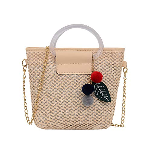 Bali Wicker - Clearance! DDKK bags Women Weave Round Summer Handmade Wicker Woven Purse Handbag Circle Boho Bag Bali Beach Straw Crossbody Bag