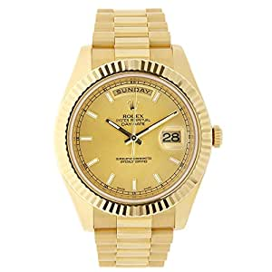 Rolex Day-Date 40mm 18K Yellow Gold Champagne Dial President Watch 228238