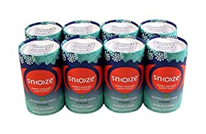 Snoooze Natural and Herbal Supplement Sleep Drink with Valerian, Passionflower, Linden Flower, and Lemon Balm, Strong, 4.6 FL OZ Pack of 8 Cans