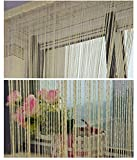 Hysenm 2 Pack Glitter String Curtains 39x79 Inch