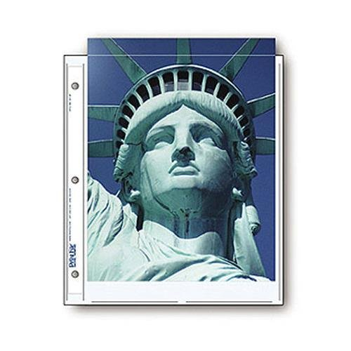 Print File Archival Photo Pages Holds Two 8.5x11'' Prints, Pack of 500 by Print File
