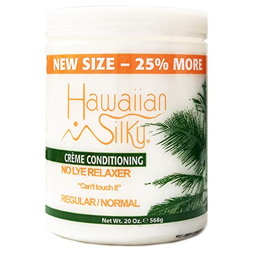 Hawaiian Silky No Lye Relaxer Regular, 20 oz | Signature Collection Creme Conditioning