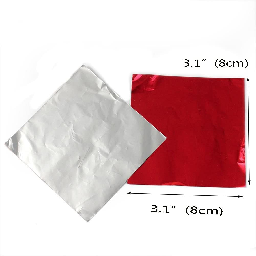 VEIREN 400 Pcs Candy Paper Wrappers Square Chocolate Lolly ...