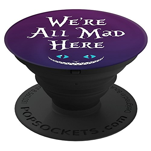 Brave New Look Wonderland We're All Mad Here Pop Sockets Stand for Smartphones and Tablets by Brave New Look