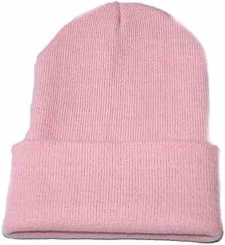 f81e5f242fe iYBUIA Unisex Slouchy Knitting Beanie Hip Hop Cap Warm Winter Ski Hat