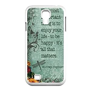 Custom Colorful Case for SamSung Galaxy S4 I9500, Audrey Hepburn Quotes Cover Case - HL-538471
