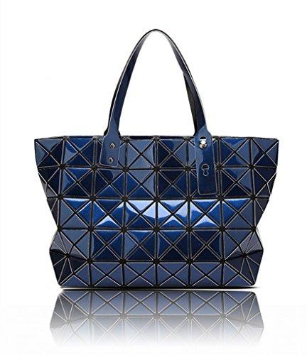 LeahWard? Women's Prism Shape Handbag Rucksack Shopper School College Rucksacks Bags Blue Prism Shopper Handbag for Women