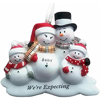 Amazoncom Family of 4 Were Expecting Snowmen Personalized