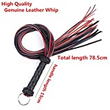 New Genuine Leather Whip Fetish Bondage Lash Tools Adult Game Spanking Paddle Whip Flogger BDSM Erotic Sex to