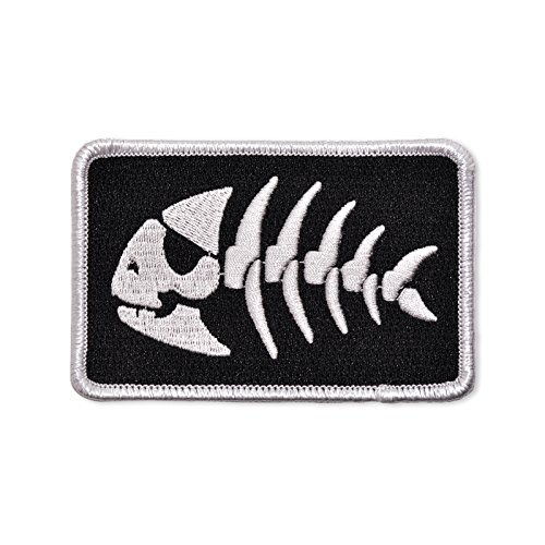 "FSM Jolly Pirate Fish Embroidered Patch - 3.5"" Wide"