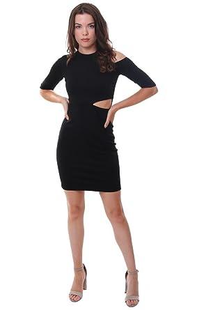 Amazon Amanda Uprichard Dresses Cutout Waist And Shoulder Black