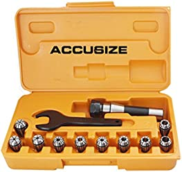#0223-0902x5 5 Pcs 3//8 ER40 Collet Set x 0.0005 in Fitted Box Accusize