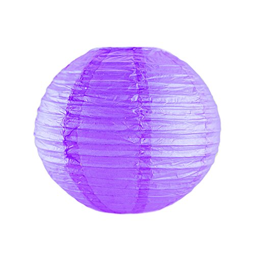 10-Colorful-ChineseJapanese-Hanging-Paper-Lanterns-Metal-Frame-for-Parties-Home-Lamps-Event-Decoration-10-Pack-by-Super-Z-Outlet-Purple