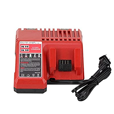 Replacement Lithium-ion Battery Charger Multi Voltage Charger for Milwaukee M18 18v 48-11-1850