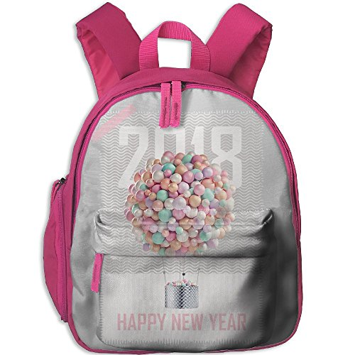 Happy New Year Eve Ballon 2018Childrens' Fashionbag Toddler Preschool Backpack Children Backpacks School Bag