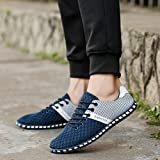Sneakers For Men, Ecurson New Style Fashion Men Casual Mesh Comfortable Breathable Sneakers Flat Shoes (10, Blue)