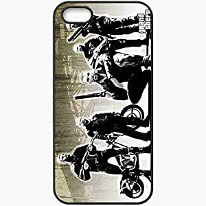 Personalized iPhone 5 5S Cell phone Case/Cover Skin Gang Gta 4 Lost And Damned Men Grand Theft Auto 4 Lost And Damned Weapons Black