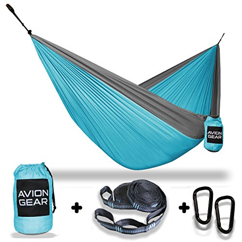 Double Portable Hammock with Included Loop Lock Tree Straps - (Loop Lock Straps)