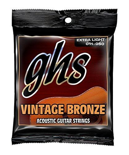 GHS Strings GHS Vintage Bronze Acoustic Guitar 6 String Set-Extra Light (011-050) (VN-XL)