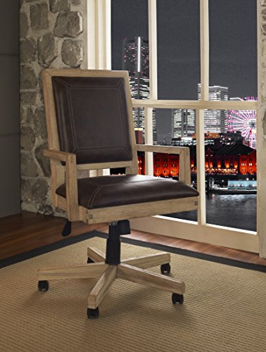 Fairfax Home Collections Blair Office Chair in Weathered (Industrial Office Chairs)
