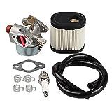 HIPA Carburetor + Air Filter Spark Plug Fuel Line for Toro 20016 20017 20018 6.75HP Recycler Lawn Mower