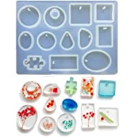 Phoneix Jewelry Making Molds Assorted Silicone Mould for Making Pendant, Resin, Crystal, Cabochon, Polymer Clay