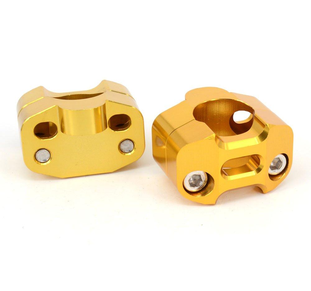 Coppia moto 1 1//828MM CNC manubrio del motociclo Riser Mount Clamp adattatore 7//8 scambio 1 1//8 Verde