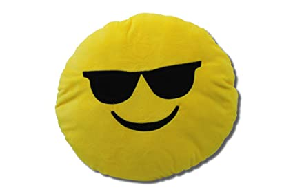 Katara 1788 Cojín Redondo Emoji Almohadilla Emoticono Whatsapp, Almohada Smiley De Peluche, Para Sofá - Cool