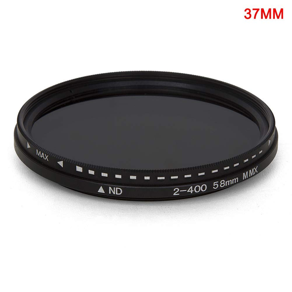 Fader Variable ND Filtro Ajustable ND2a ND400 Densidad Neutra 37mm Delisouls Filtro Objetivo Capa Vidrio /Óptico Impermeable Lente Filtro para Objetivo de C/ámara