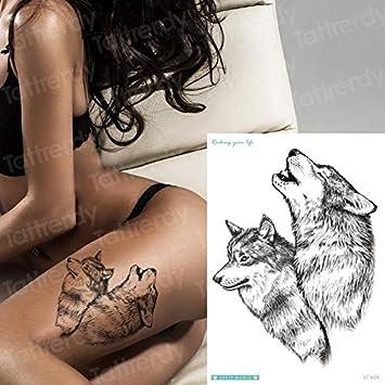 HXMAN 5 Unids Tatuaje Pegatina Mujer Sexy Animales Temporales ...