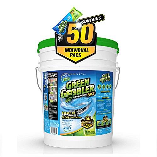 Green Gobbler 50 Pac Pail Drain Cleaner